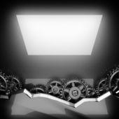 полированный фон с зубчатой шестерни металла — Стоковое фото