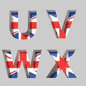 Vector Great Britain alphabet letters set — Stock Vector