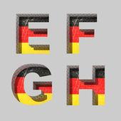 Vector Germany alphabet letters set — Stockvektor
