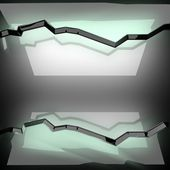 Fond de métal poli avec verre — Photo