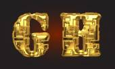 Vector golden alphabet letters set — Vecteur