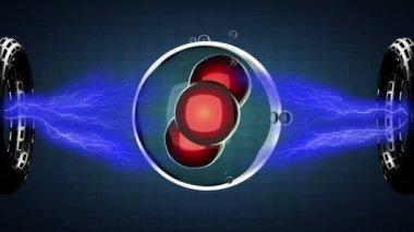 Ilustración de bucle gira la división celular — Vídeo de Stock