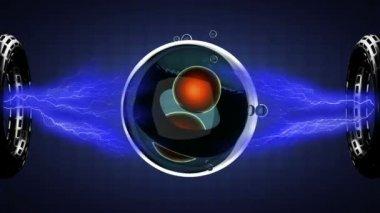 деление клеток иллюстрация цикл поворота — Стоковое видео