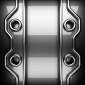 Polished metal background — Stock Photo