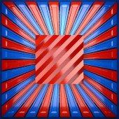 Röda och blå metall bakgrund — Stockfoto
