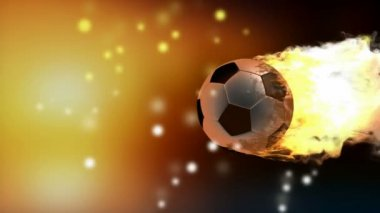 Burning soccer ball — Stock Video