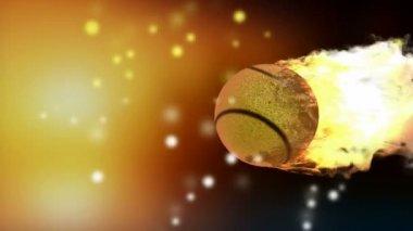 Quema la pelota de tenis. alfa enmarañado — Vídeo de Stock