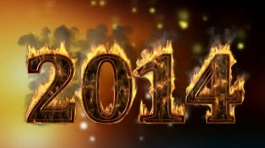 2014 burning year — Stok video