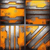 Vector metal background set — Stock Vector