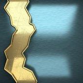Blå metall bakgrund med gula element — Stockfoto
