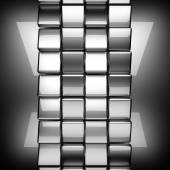 Polished metal background — Stock Photo