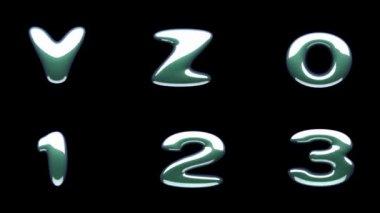 Loop alpha matted colored alphabet — Vídeo de stock