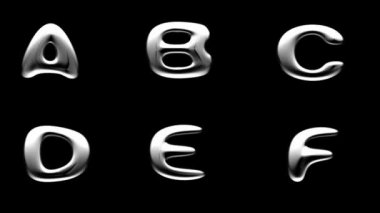 Loop alpha matted metal alphabet — Stock Video