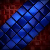 Rote und blaue metall-hintergrund — Stockfoto