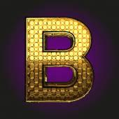 B vector golden letter — Stock Vector