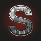 S vector metal letter — Stock Vector