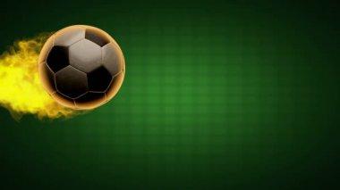 Football burning ball — Stock Video
