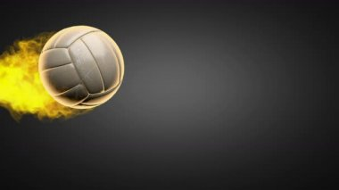 Volleyball burning ball — Stock Video