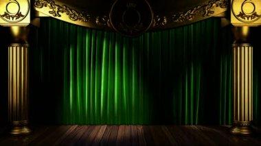 Loop light på gardinen scenen — Stockvideo
