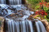 Silky Waterfall in High Dynamic Range — Stock Photo