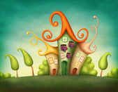 Fantasy houses — Stock Photo