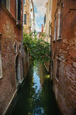 Narrow water canal in Venice — Stock Photo