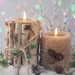 Winter candles — Stock Photo #56796687
