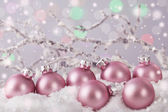 Pastel pink colored ornaments  — Stock Photo