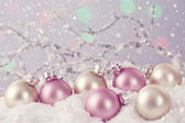 Pastel colored ornaments  — Stock Photo