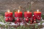 Four christmas candle — Foto de Stock