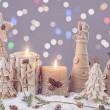 Winter candles — Stock Photo #59456423