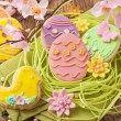Colorful easter cookies — Stock Photo #62595635