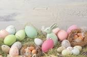 Easter pastel colored decoration — Stock Photo