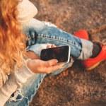 Using smart phone — Stock Photo #52345201