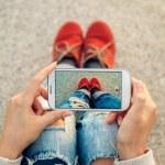 Using smart phone — Stock Photo #52345287