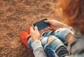 Akıllı telefon kullanma — Stockfoto