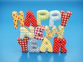 Happy new year text — Stock Photo