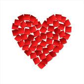 Heart. Red paper stickers — Διανυσματικό Αρχείο