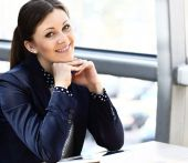 Portrait of a smiling business woman — Stock Photo