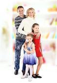 Beautiful happy family — Стоковое фото