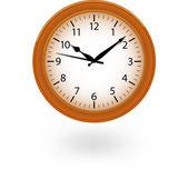 Brown clock — Stock Vector