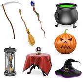 3D halloween set — Stock Photo