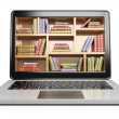 3D Laptop. Digital Library concept — Stock Photo #53648323