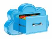 3D Cloud storage services concept — Stock Photo