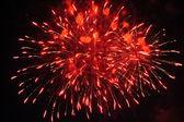 カラフルな花火は暗い上空 — ストック写真