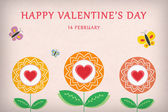 Cute Illustrative Valentines Day Greeting Card — Stockfoto