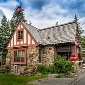 Stone building, Banff National Park — Stock Photo