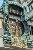 Famous clock in vienna — Stock Photo
