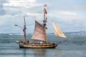 Wood sailing ship — Stock Photo
