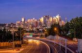 Calgary skyline at night — Stock Photo